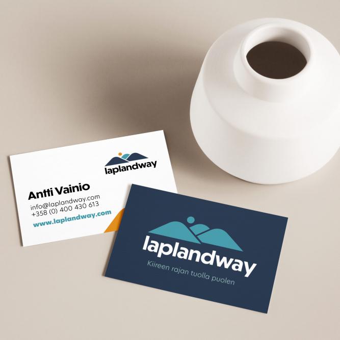 yritysilme käyntikortti suunnittelu laplandway graafinen suunnittelu
