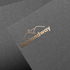 laplandway_logo mockup kulta foliointi